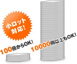 100冊からOK! 10000冊以上もOK!